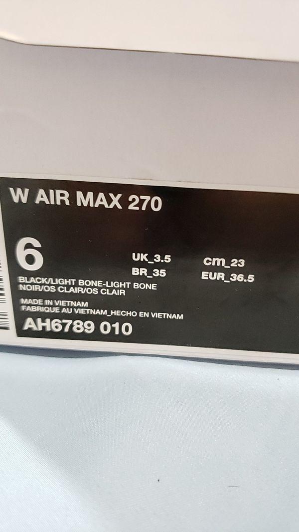 NIKE AIR MAX 270 WOMEN SIZE 6