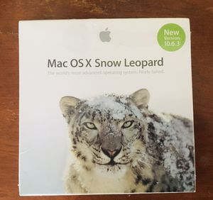 Apple OS X Snow Leopard Dvd New operating system for Sale in Norwood, MA