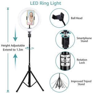 LED Ring Light With Tripod Stand And Phone Holder, iPhone And Android Compatibility. for Sale in Bakersfield, CA