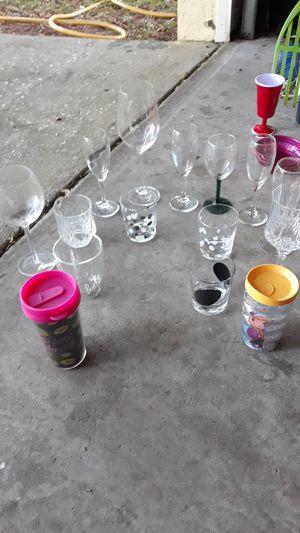 Wine glasses etc. for Sale in Brandon, FL