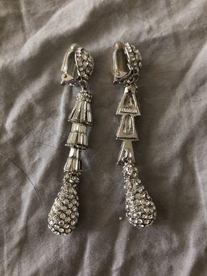 Diamond clip on earrings for Sale in Arlington, VA