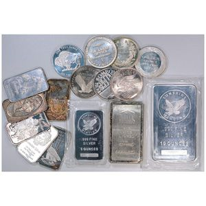 1 oz and 10oz .999 silver bars $2 over spot for Sale in Santa Maria, CA