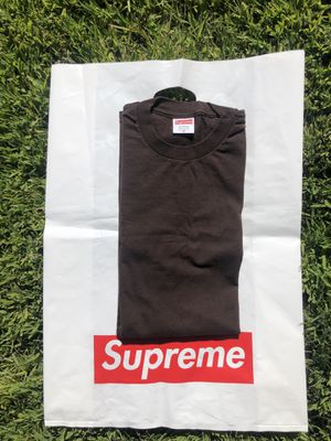 Supreme Brown Blank Tee for Sale in Canyon Lake, CA