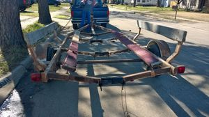 Boat trailer 18' As Is No Title and No Plates Adjustable Axles for Sale in Hurst, TX