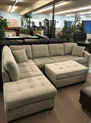 🍒 BEST Offer SPECIAL] Emilio Taupe Sectional 77 for Sale in Jessup, MD