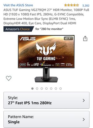 "AUSU TUF Gaming 27"" 1080P 280 hz for Sale in Norco, CA"