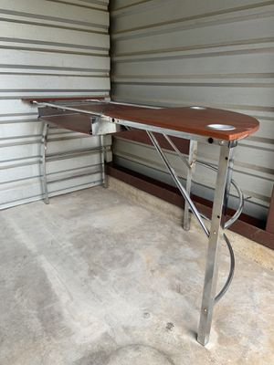 Computer desk (w/ glass inserts) for Sale in Douglasville, GA