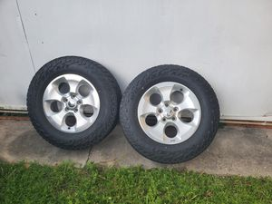 Jeep Wrangler rims wheels with tires (only 2) for Sale in Miami, FL