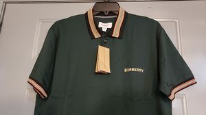 Burberry men's Green Polo for Sale in Jersey City, NJ
