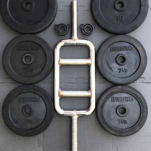 IVANKO TRICEP BAR BARBELL CURL EZ RUBBER BUMPER PLATES WEIGHTS for Sale in Los Alamitos, CA