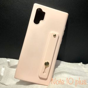 Case for Samsung note 10 plus!!!!!...❤️❤️❤️ Candy color silicone wrist strap bracket soft phone case 3D For Note 10 plus for Sale in Hialeah, FL
