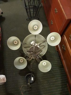 Chandelier 6 Globes Holds 8 Lights for Sale in Dallas, TX