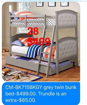 Bunk Beds. Mattresses & Trundle not included. Assembly Required. Free Delivery. for Sale in Montebello, CA