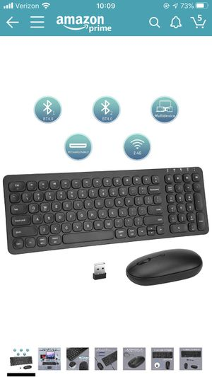 Brand New. Multi-Device Wireless Bluetooth Keyboard and Mouse,2.4GRechargeable Dual-Mode Slim Full Size Keyboard and Mouse Combo with USB Receiver fo for Sale in Addison, IL