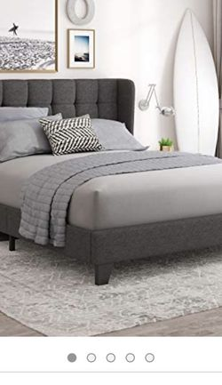 Full Dark Grey Frame W/ Headboard for Sale in Beaverton,  OR