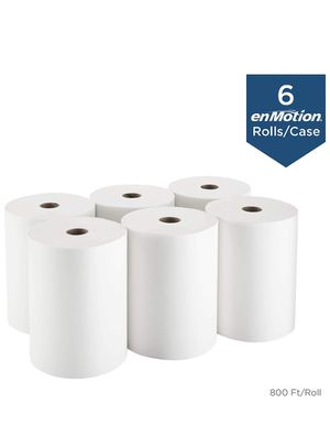 """enMotion 10"""" Paper Towel Roll by GP PRO (Georgia-Pacific), White, 89460, 800 Feet Per Roll, 6 Rolls Per Case for Sale in Puyallup, WA"""