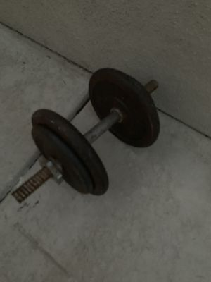 Pair of adjustable dumbbells for Sale in Tracy, CA