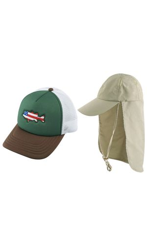 AKASO 2 Pack Sun Caps with Neck Flap Baseball Cap, Quick Dry & Breathable Outdoor Sun Hat, UPF 50+ Fishing Cap for Golf Hunting Backpacking Gardening for Sale in Brooklyn, NY
