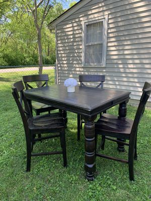 Ashley Dinner table and chairs with leaf and barstools for Sale in Spring Hill, TN