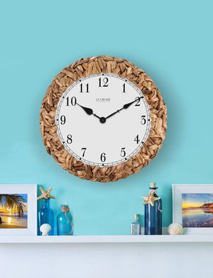 """La Crosse Clock Company 14"""" Palm Leaf Wrapped Analog Wall Clock for Sale in Fort Lauderdale, FL"""