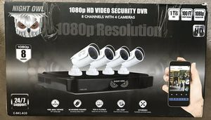 New Night Owl 8-Channel HD DVR w/ 1TB HDD, 4 1080p Cameras 100' Night Vision for Sale in Norwalk, CA