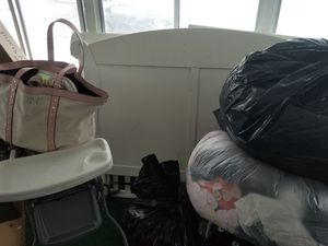 Baby girl clothes , adult clothes high chair , crib,stroller for Sale in West Valley City, UT
