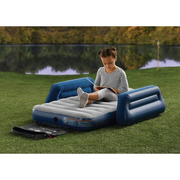 Kids Travel Airbed Air Bed Mattress Guest Room Sleepover Camping Portable Outdoor