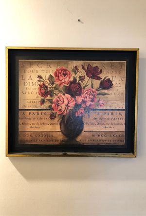 Wall decor - picture of flowers in a vase for Sale in Glendora, CA