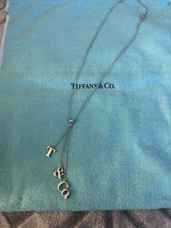 "Tiffany & Co. cascading dangle ""T&CO"" necklace for Sale in Murrieta,  CA"