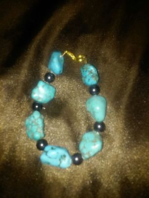 Genuine Turquoise & Hemitite bracelet for Sale in Ciudad Juárez, MX
