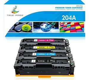 True Image Compatible Toner Cartridge Replacement for HP 204A CF510A Color Laserjet Pro MFP M180nw M154nw M180n M154a MFP M181fw CF511A CF512A CF513A for Sale in Lorain, OH