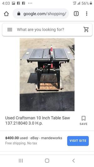 Craftsman table saw for Sale in Detroit, MI