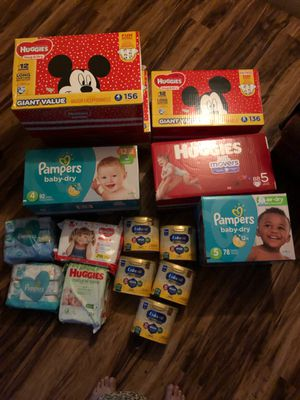 Baby diapers, wipes, and pull-up, enfamil for Sale in Sacramento, CA