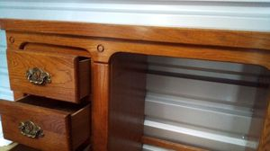 Desk w/ three cubbies 80% hard wood for Sale in Morrison, CO