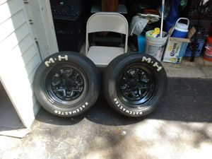 Chevy rally wheels and slicks for Sale in Waterbury, CT