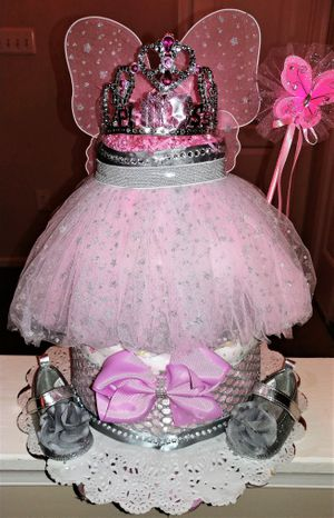 Daddy's Little Princess Diaper Cake for Sale in Fort Washington, MD