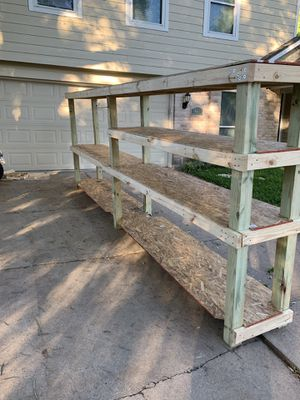 Custom Garage mobile shelves $150 plus materials for Sale in Stafford, TX