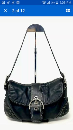Coach Black Leather Shoulder Handbag for Sale in Westminster, CA