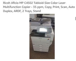 RICOH AFICIO MP C4502 Copier, Printer, Scanner for Sale in Tampa, FL