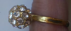 Adjustible bling ring nice!! for Sale in Hollister, CA