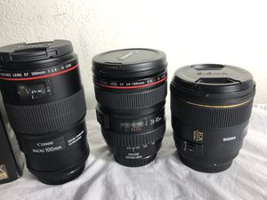 Canon L Lenses LIKE NEW for Sale in Pearl City, HI