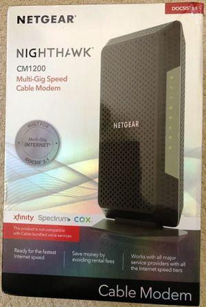 New Netgear Nighthawk DOCSIS 3.1 CM1200 Multi-Gig Cable Modem for Sale in Porter Ranch, CA
