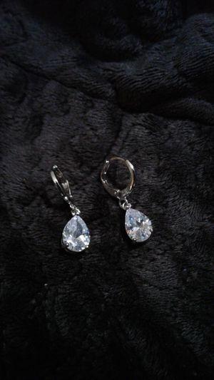 Set of 3 pear lab diamond created. 1. Lever back drop. 2. Small studs 3. Medium Studs. for Sale in Lexington, SC