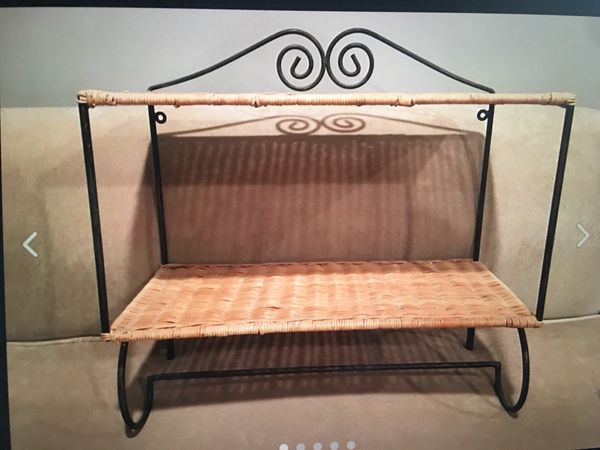 WICKER & IRON DOUBLE WALL SHELVES 2 available Price per each
