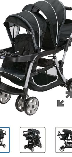 Double Stroller ( Like New Used Only Once ) for Sale in Fresno,  CA