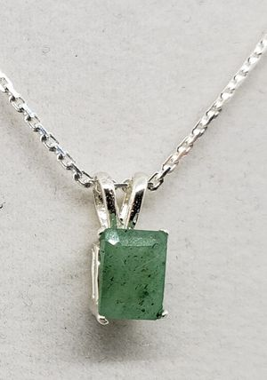 Natural Emerald Aventurine Silver Necklace for Sale in Justin, TX
