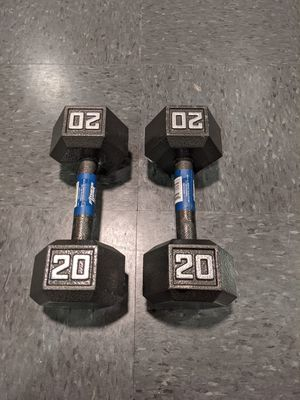 Brand New Cast Iron Hex Dumbbell 20 lbs for Sale in Chicago, IL