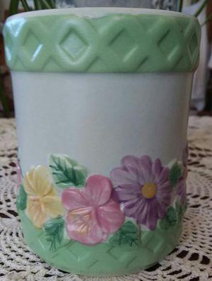 Vtg Four's Gift Embossed Flower Pot for Sale in Wyandotte, MI