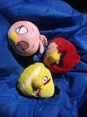 Angry bird plushes for Sale in Saint Petersburg, FL
