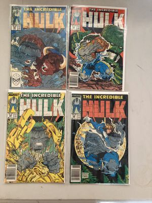 4 Issues From the Incredible Hulk Series: #341, #342, #343, #344! for Sale in Clovis, CA